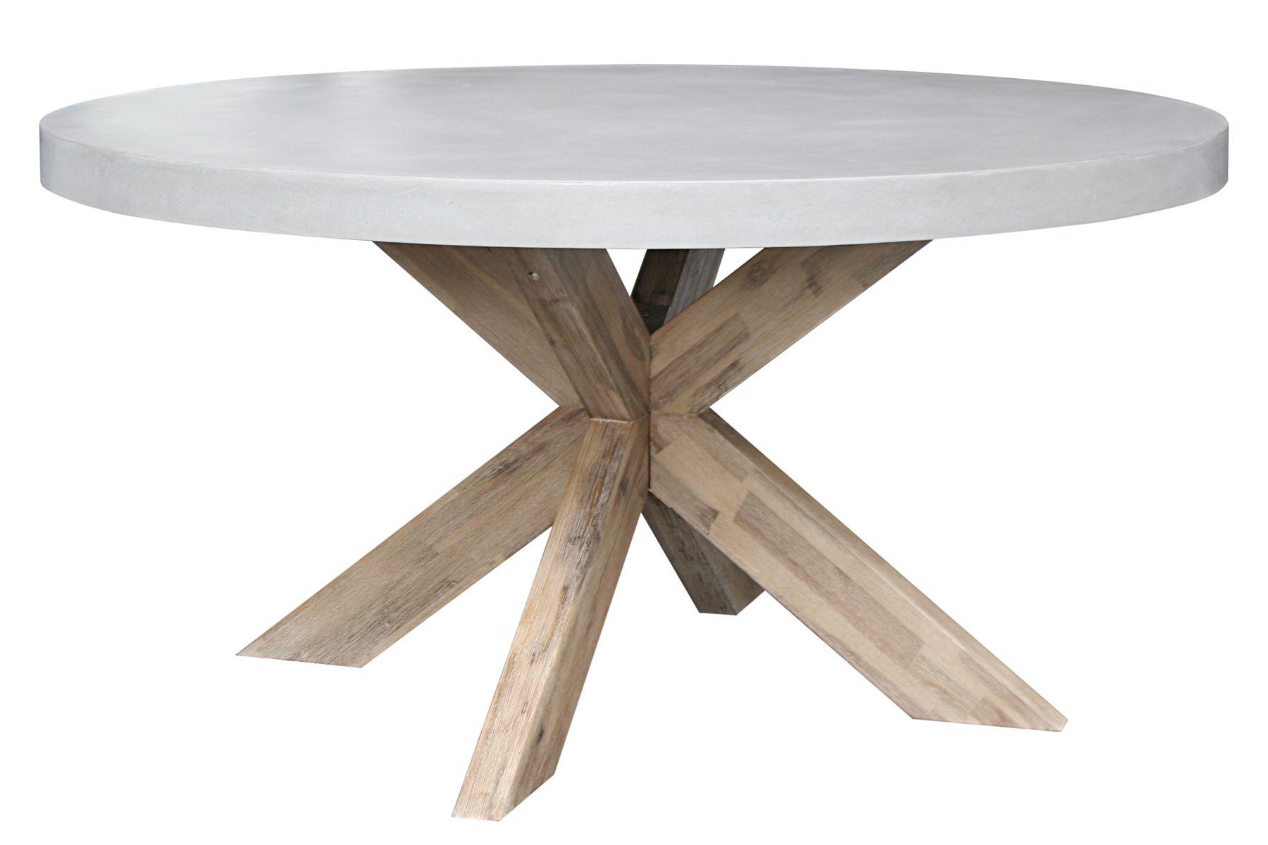 Ronde witte houten tuintafel van robuust hout Ook leuk
