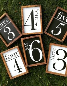 Family number sign wood house size farmhouse style gallery wall flash card also rh pinterest