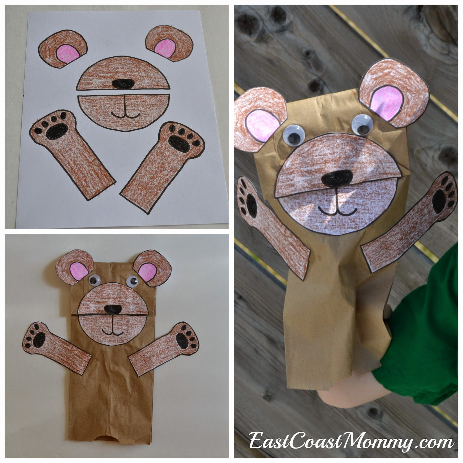 Number Crafts Number Five Teddy Bear Picnic