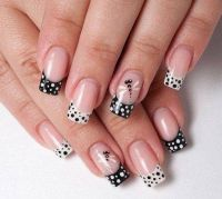 30+ Adorable Polka Dots Nail Designs | White nails, Design ...