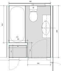 narrow bathroom design | the existing bathroom plan my ...