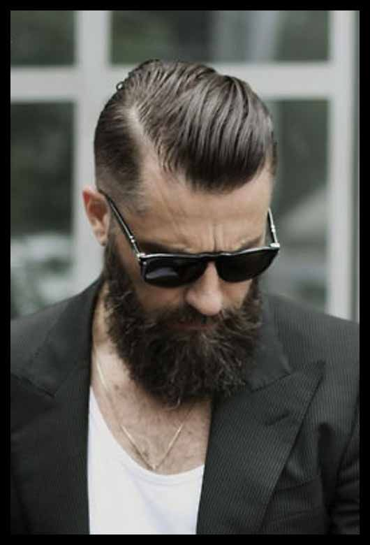 Shaved Sides And Sleek Backwards Hair Old School Hairstyles For