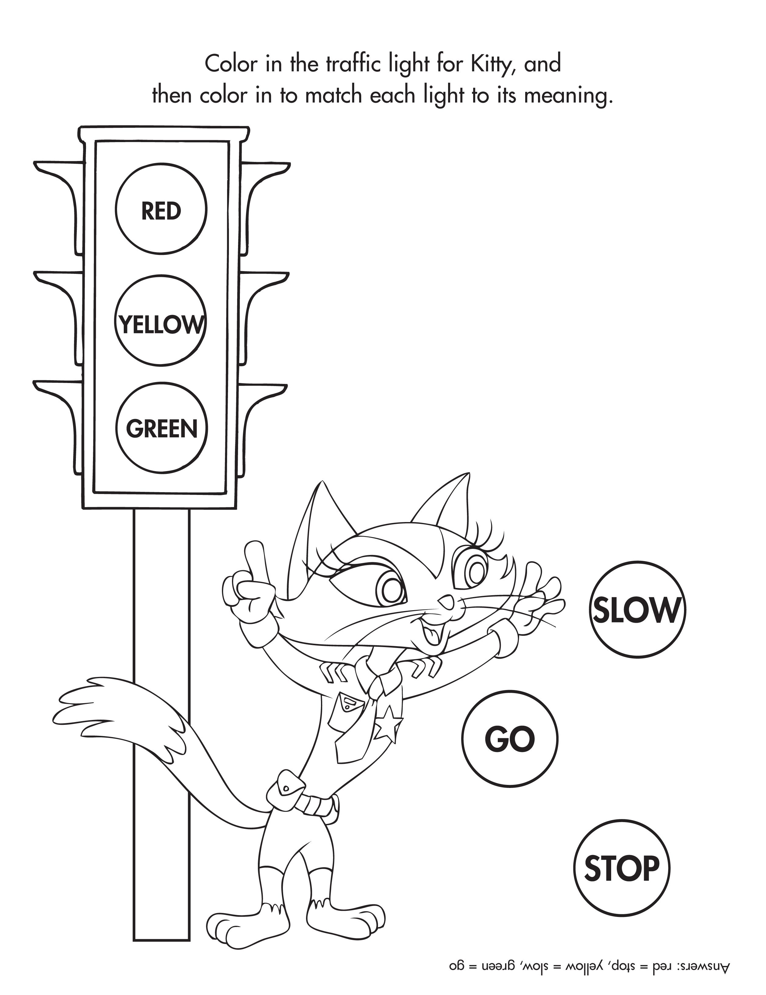 Traffic Light Coloring Sheet Garrett Morgan Picture