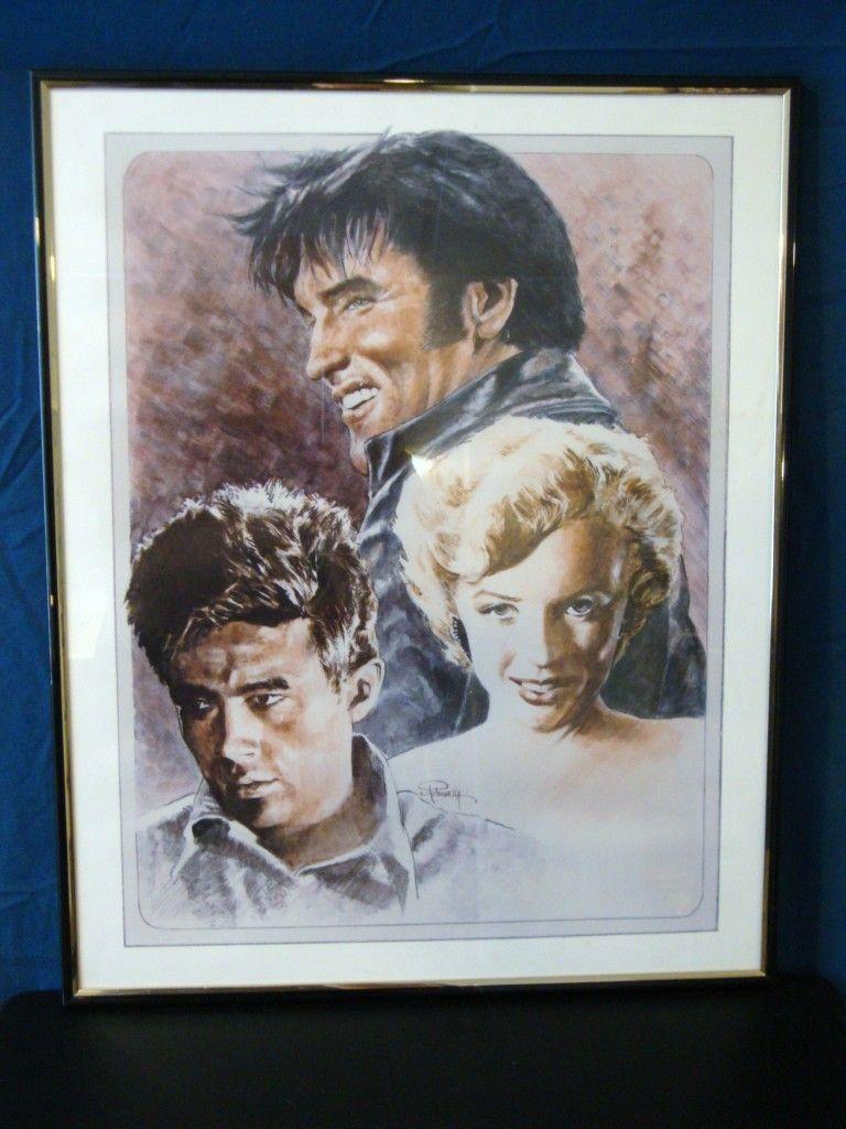 Elvis Presley James Dean Marilyn Monroe Paintings