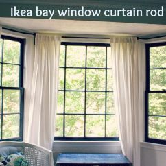 Bay Window Kitchen Curtains Small Renovations Between Blue And Yellow Curtain Rod