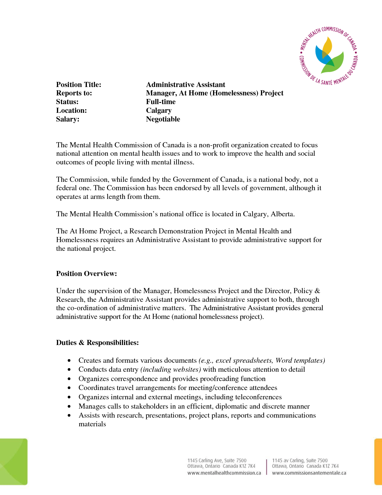 Administrative Assistant Resume Summary Resume Examples For Administrative Assistant Positions