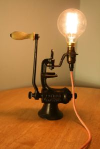 Upcycled Vintage Lamp, Industrial light, Industrial lamp