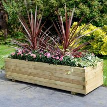 Wooden Patio Rectangular Planter Garden Large Furniture