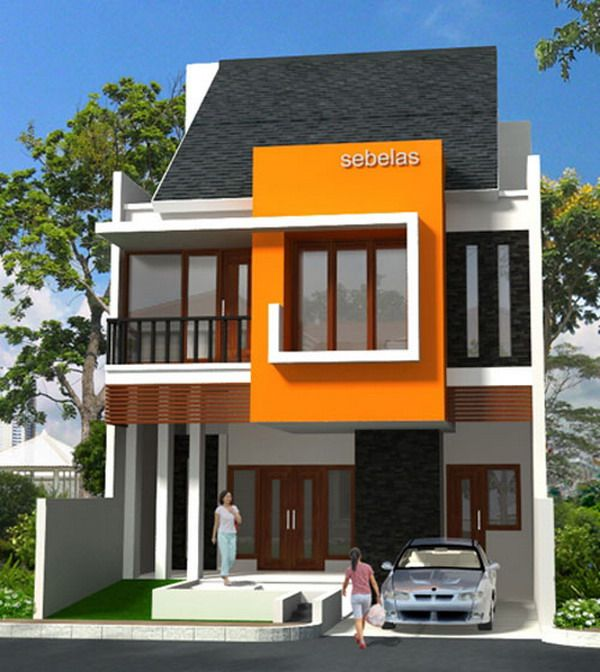 Europe Modern Style New House Designs Exterior Small Garage