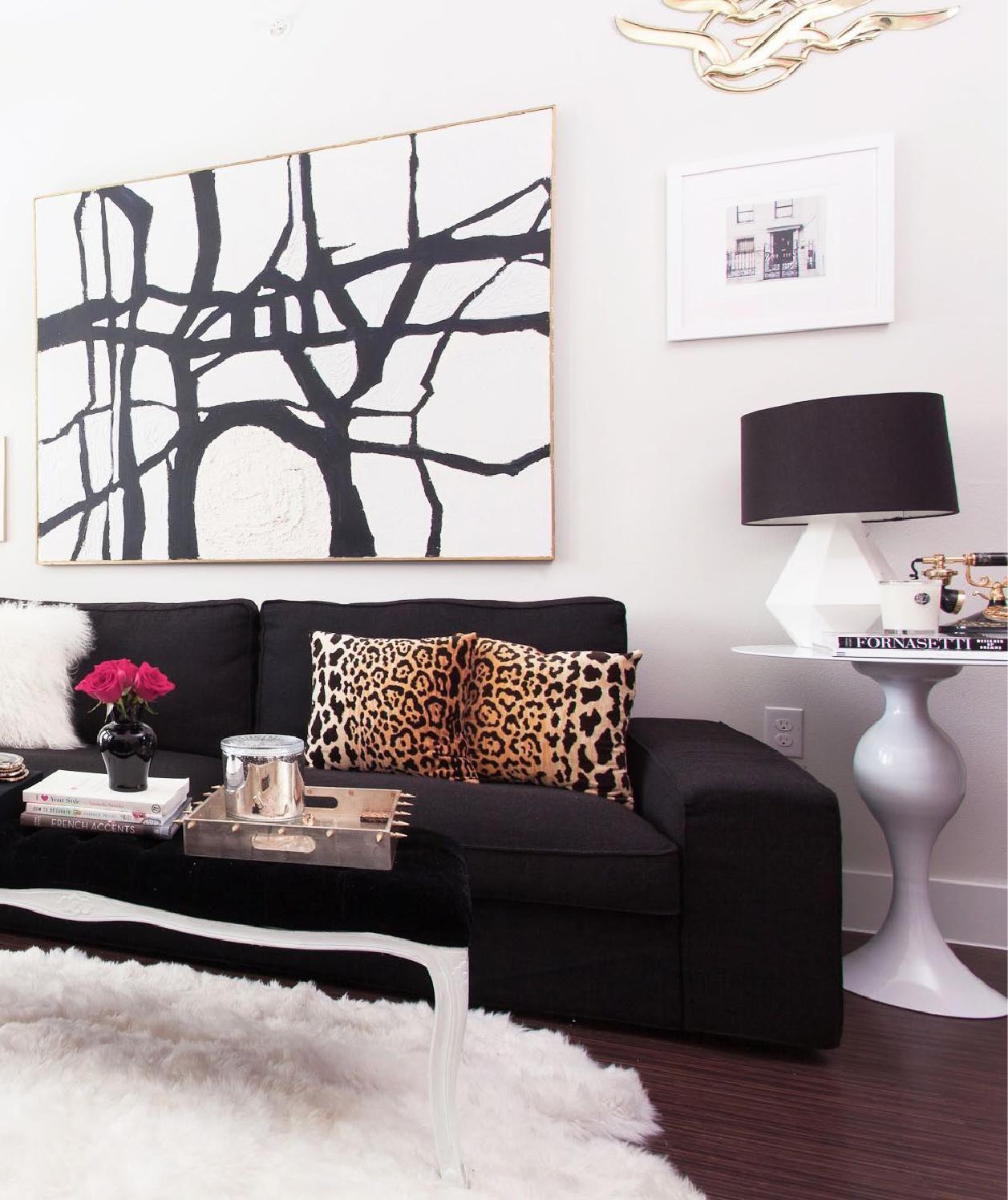black sofa room ideas discount sectional sofas online my apartment home tour decor pinterest