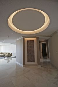 recessed circle with LED lights | Moonstone Deets ...