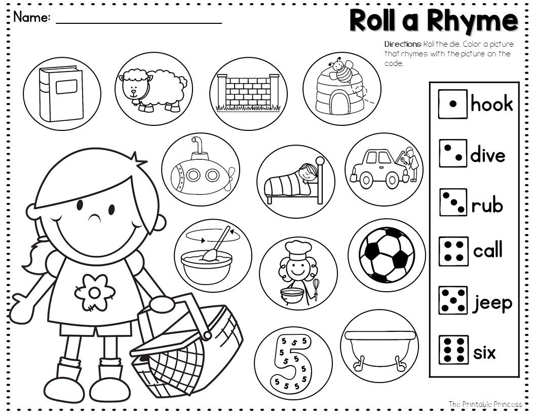 Easy Peasy Prep Just Add Dice Center Activity To Practice Rhyming Words