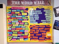 Bulletin board classroom display English - vocabulary ...