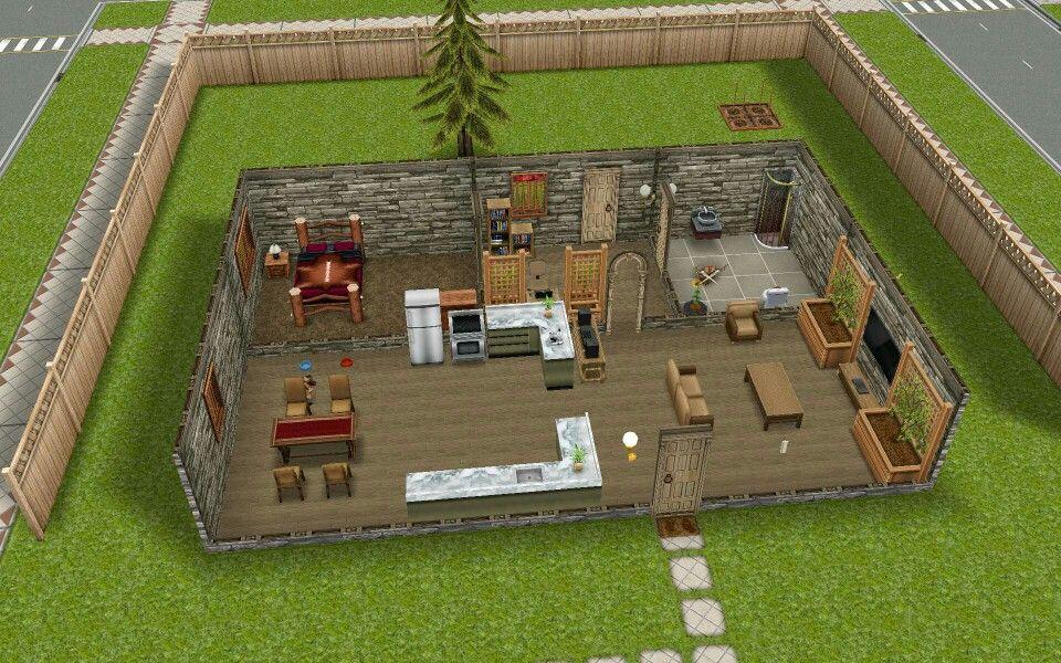 Sims Freeplay 1 Bedroom Scandinavian Minimalist Design Sims