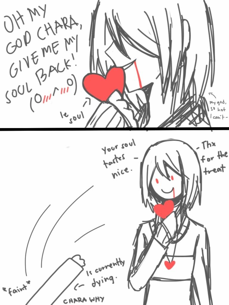 Frisk X Chara Soul Touch