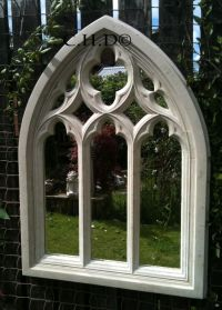 STONE GOTHIC ARCHED MIRROR CHURCH WINDOW WALL OUTDOOR ...