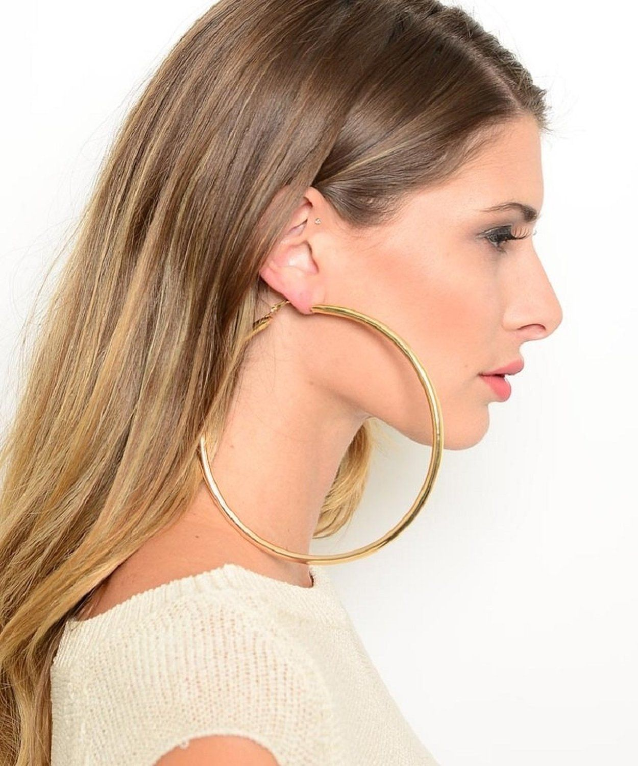 huge hoop earrings