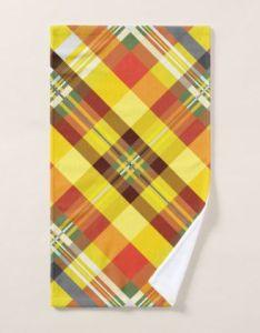 Plaid tartan  sunflower hand towel personalize design idea new special custom also rh pinterest