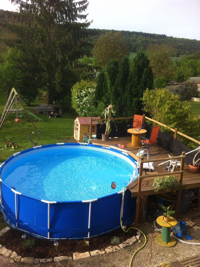 Ide amnagement Terrasse pour piscine horssol  amnagement Piscine  Pinterest  Swimming