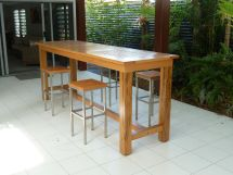 Outdoor Bar Design Table And Stools