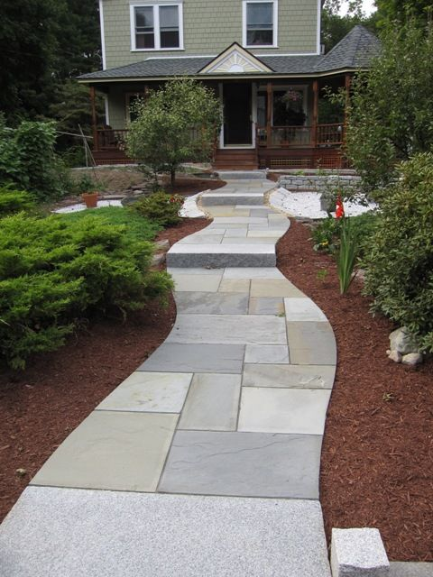Pattern For Walkway Bluestone Patio Fits Precisely And Offers
