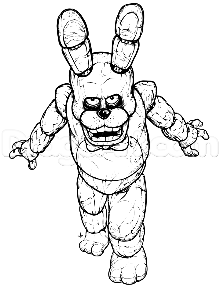 How to Draw Bonnie the Bunny, Five Nights at Freddys, Step