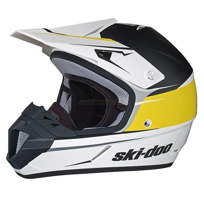 Ski Doo Xc  Cross Drift Helmet Yellow Snowmobile Helmetssnowmobiles