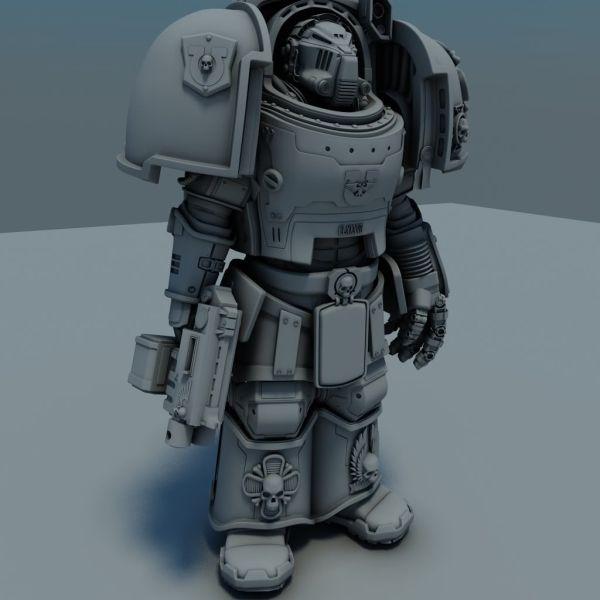 Warhammer 40k 3d Model - Exploring Mars