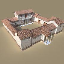 Ancient Roman Villa Model