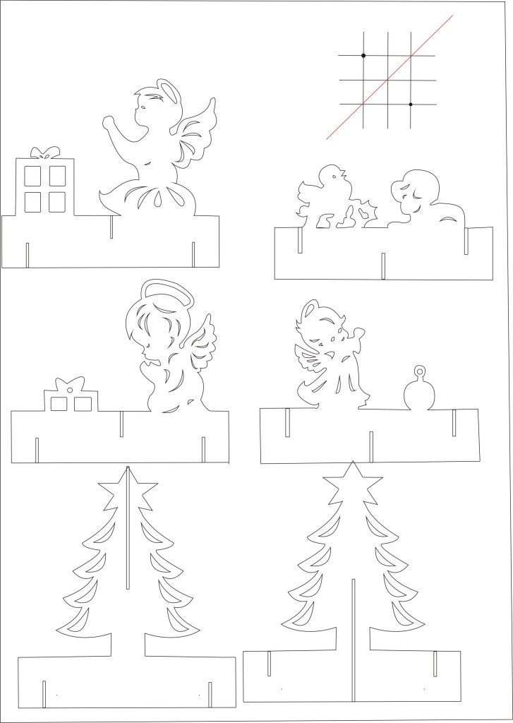 twist panel pop up card template