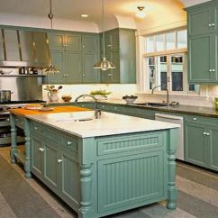Kitchen Cabinets Color Combination Repairs Teal Cabinet With White Wall For
