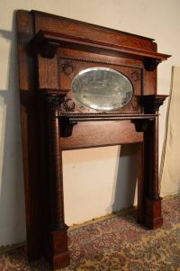 Antique Quartersawn Tiger Oak Fireplace Mantel Beveled ...