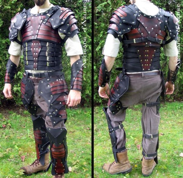 Sca Heavy Combat Leather Armor Kit Ready Epic Leather - Year