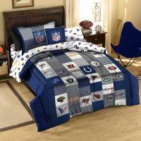 NFL FOOTBALL LOGO Sport Twin Cotton Quilt Comforter Sham