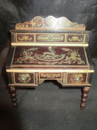 Antique German Doll House Furniture* Biedermeier Boule ...