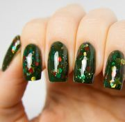 2013 christmas tree nails green