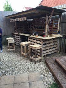 Making Ultimate Garden Bar Pallets