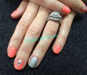 bling & neon summer nails 2014