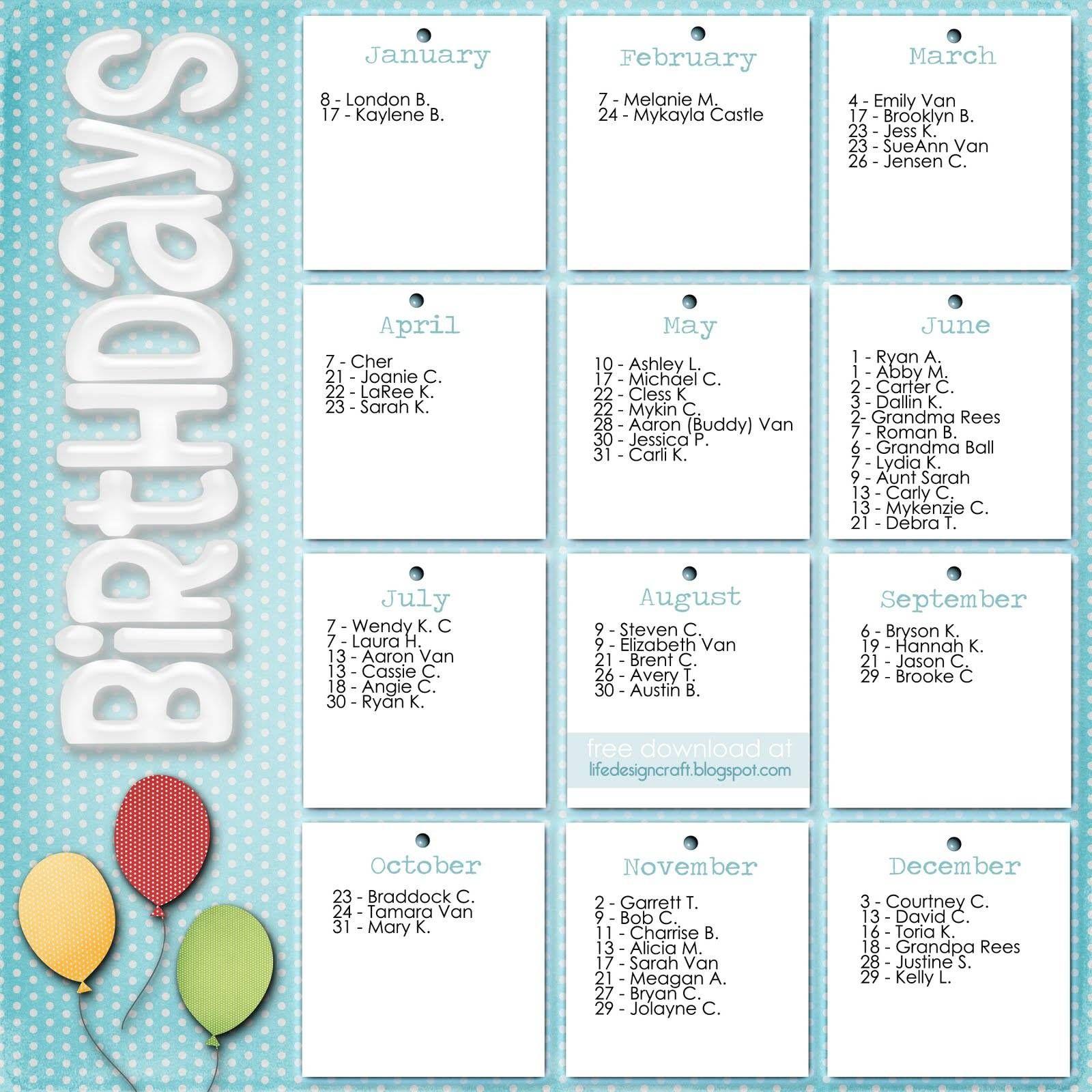 Lds Primary 2014 Birthday Ideas