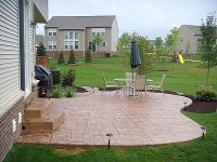 Simple stone patios | simple concrete patio Raised ...