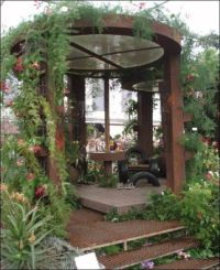 Ideas, Unique Gazebo Design Made From Solid Wooden ...