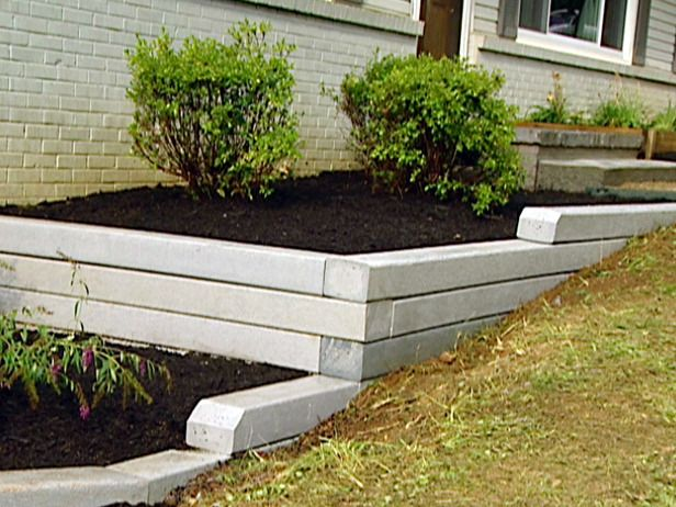 How To Install A Timber Retaining Wall Composite Timber Walls