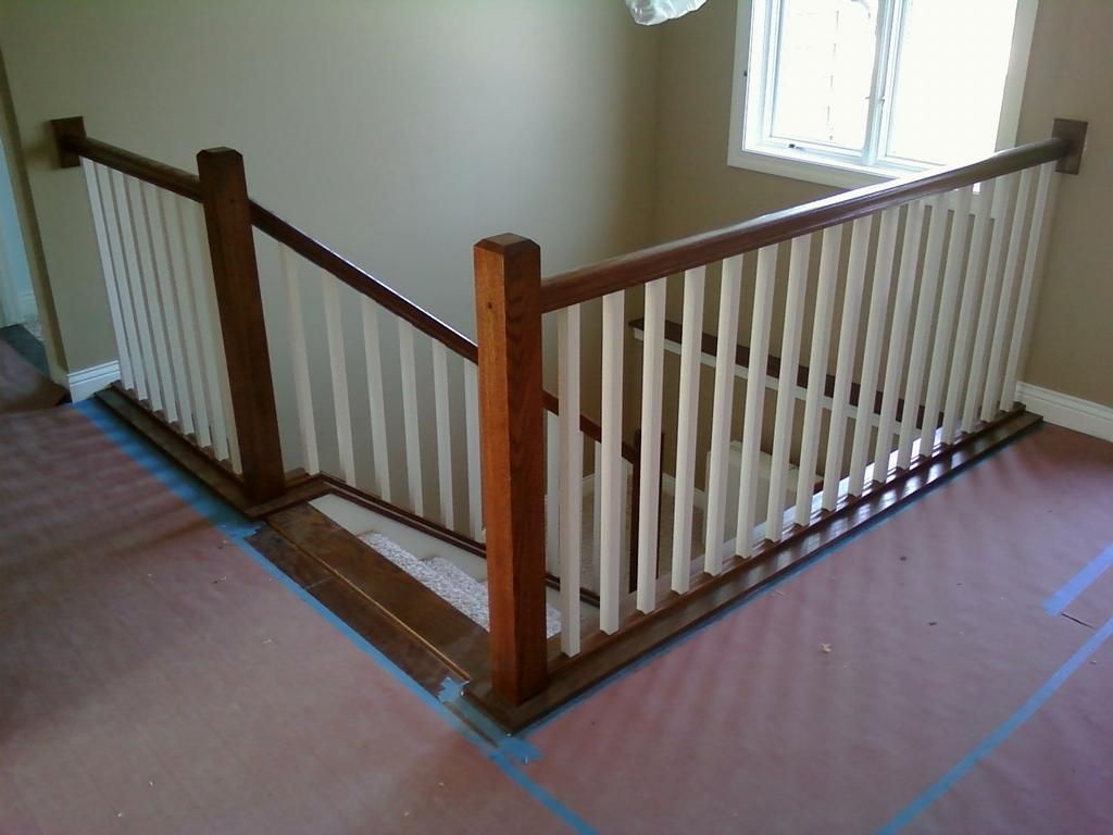 Interior Stair Railing provided by Vanderhoff Construction