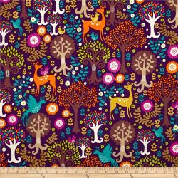 fabric miller norwegian michael fantasy forest purple woods print quilting fabrics designs quilt backgrounds decor apparel embroidery