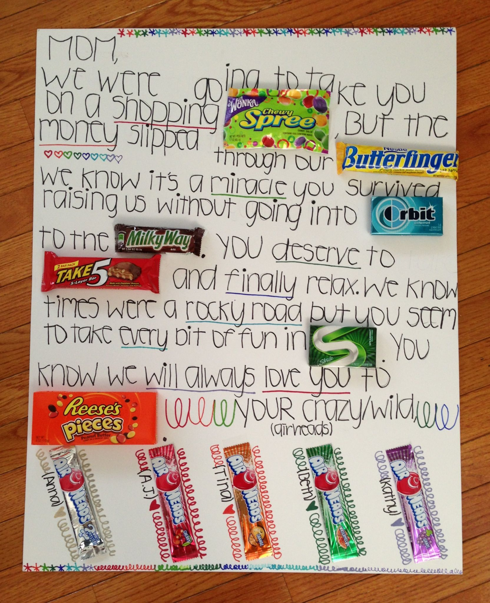 Candy Bar Poster Ideas For Valentines Day Find This Pin