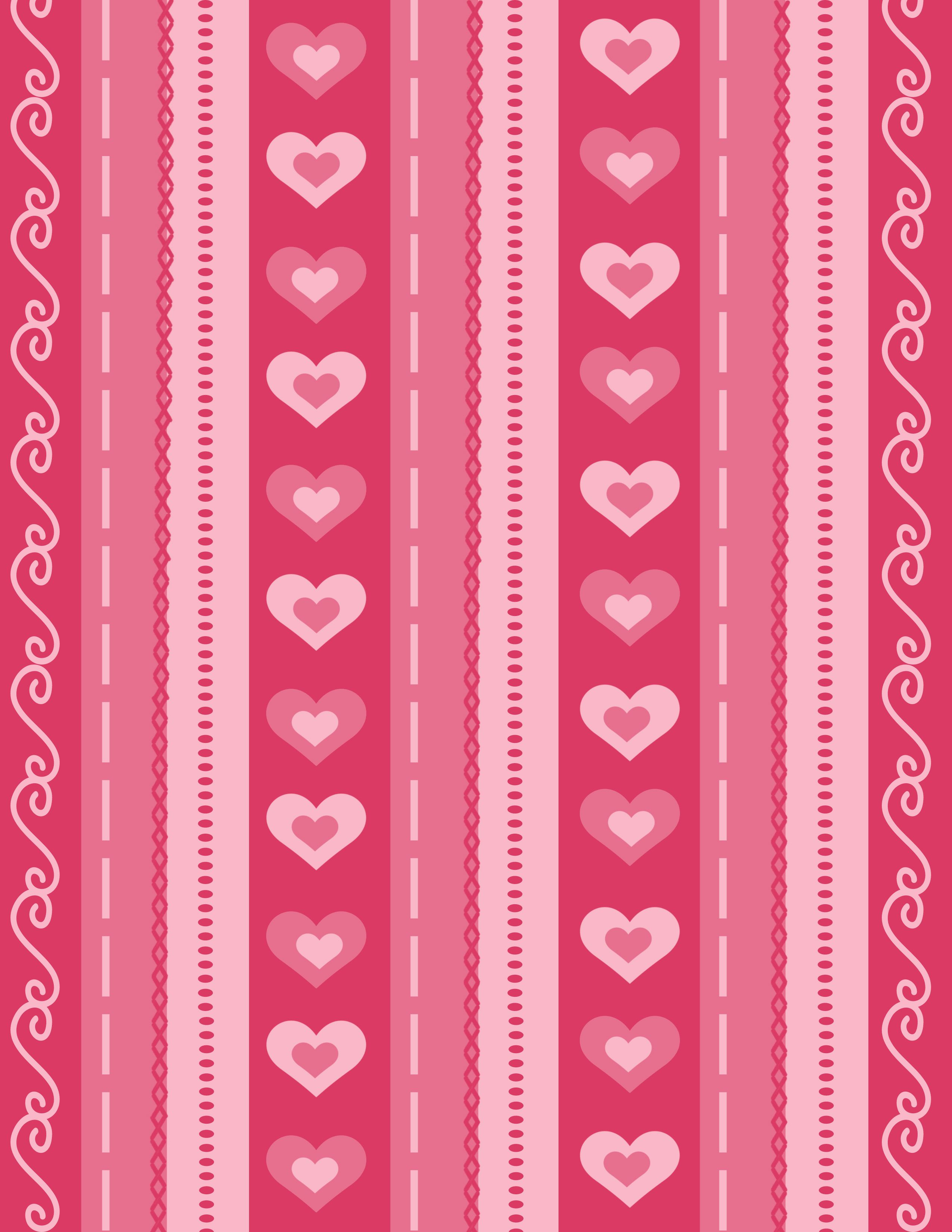 Free Printable Valentine S Day Scrapbook Paper And Love Coupons
