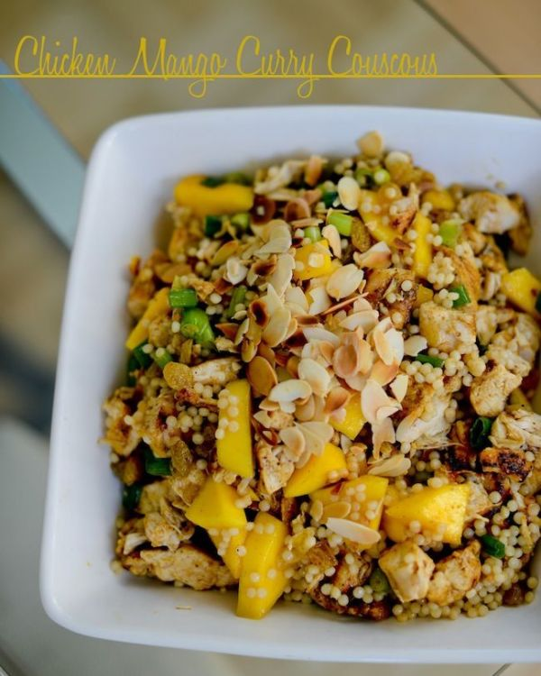 Chicken Mango Curry Couscous Next time try adding mango