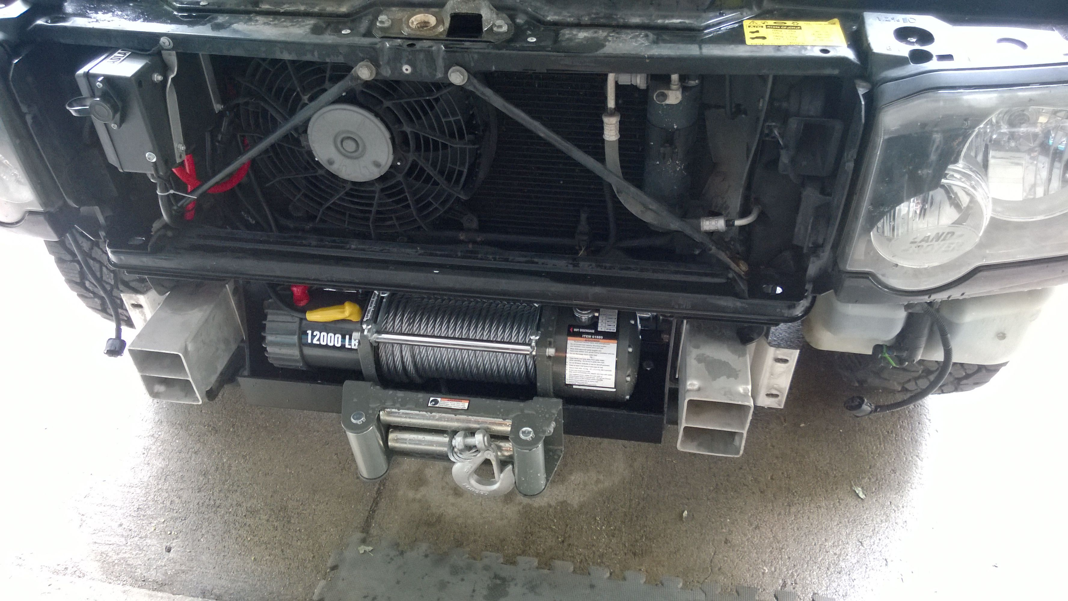Discovery II 2003 hidden winch mount install Land Rover Forums