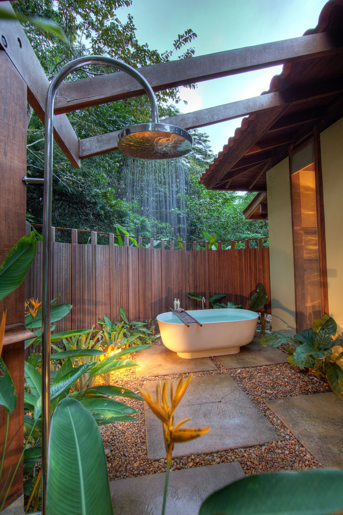 Outdoor bathroom in the middle of the jungle  Bathroom