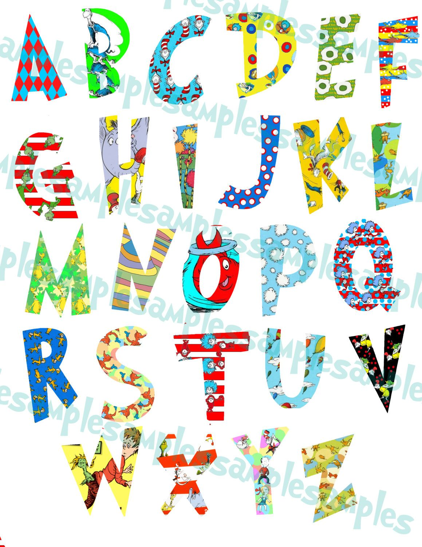 Dr Seuss Alphabet Clipart Printable Font Alphabet